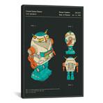 "Hiu Wong // Blue Box Toy Factory Limited // Toy Robot // Jazzberry Blue (26""W x 18""H x 0.75""D)"