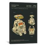 "Yuji Tanno + Takeo Kimura // Playtime Products, Inc. // Toy Robot II // Jazzberry Blue (26""W x 18""H x 0.75""D)"