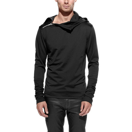Side Neck Zip Pullover // Black (S)
