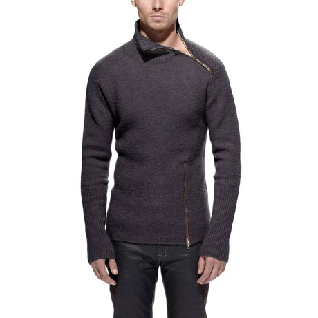 Jugar Merino Wool Turtle Neck Sweater // Steel (S)