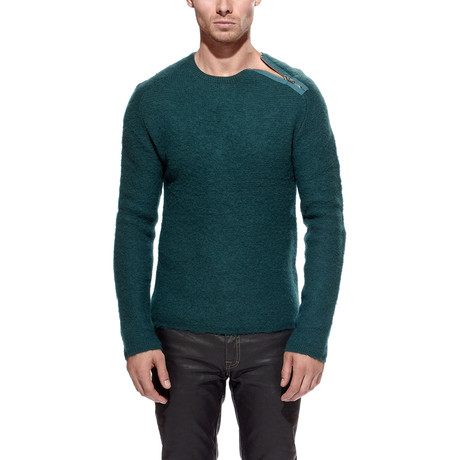 Merino Wool Zip Sweater // Jade (S)