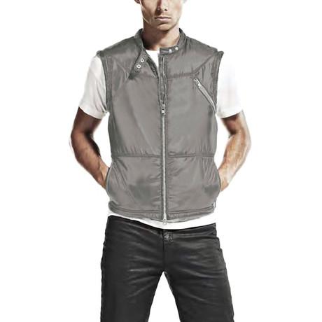 Shiny Cire Vest // Silver (S)