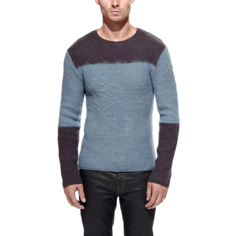 Jugar Merino Wool Block Sweater // Slate + Steel (S)
