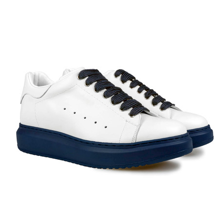Ajax Low-Top Sneaker // White + Blue (US: 7)