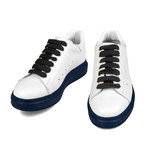 Ajax Low-Top Sneaker // White + Blue (US: 7.5)
