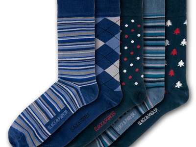 Photo of Black & Parker Funky English Socks Knightshayes Socks // Set of 5 by Touch Of Modern
