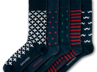 Photo of Black & Parker Funky English Socks Marwood Hill Socks // Set of 5 by Touch Of Modern