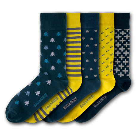 Chiswell Walled Garden Socks // Set of 5