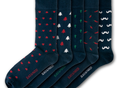 Photo of Black & Parker Funky English Socks Mapperton Socks // Set of 5 by Touch Of Modern