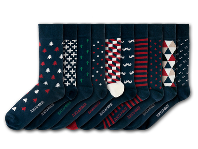 Photo of Black & Parker Funky English Socks Barnsley House Socks // Set of 10 by Touch Of Modern