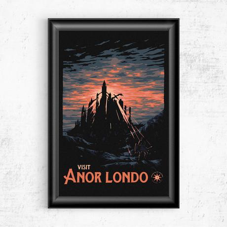 "Visit Anor Londo // Dark Souls (16""W x 20""H)"