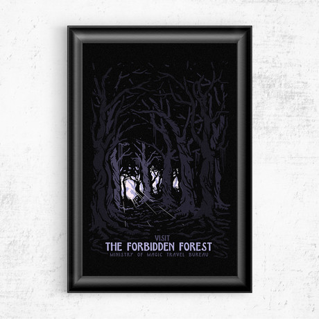 """Visit the Forbidden Forest // Harry Potter (16""""W x 20""""H)"""