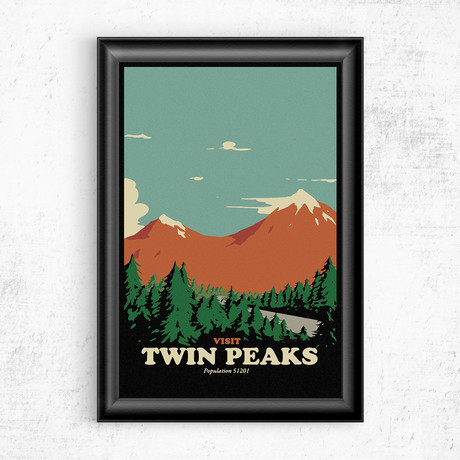 "Visit Twin Peaks (16""W x 20""H)"