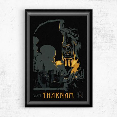 """Visit Yharnam // Bloodborne (16""""W x 20""""H)"""