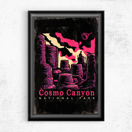 "Cosmo Canyon // Final Fantasy VII (16""W x 20""H)"