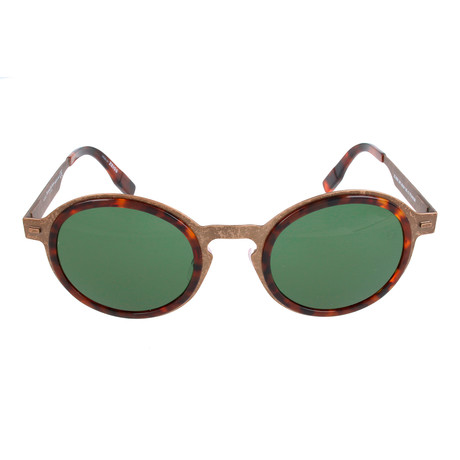 ZC0006 Men's Sunglasses // Shiny Light Bronze + Green