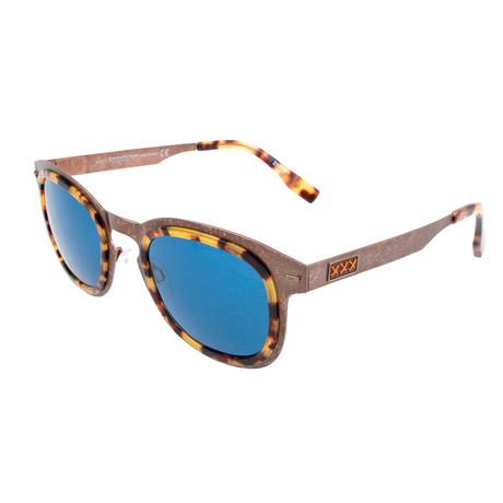 Men's ZC0007 Sunglasses // Bronze + Blue