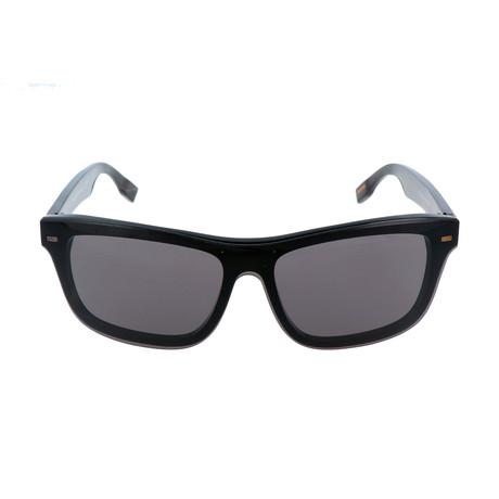 ZC0015 Men's Sunglasses // Shiny Black + Smoke