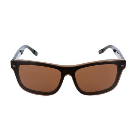 ZC0015 Men's Sunglasses // Gray + Brown