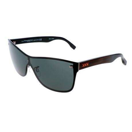 Men's ZC0016 Sunglasses // Matte Light Ruthenium + Smoke