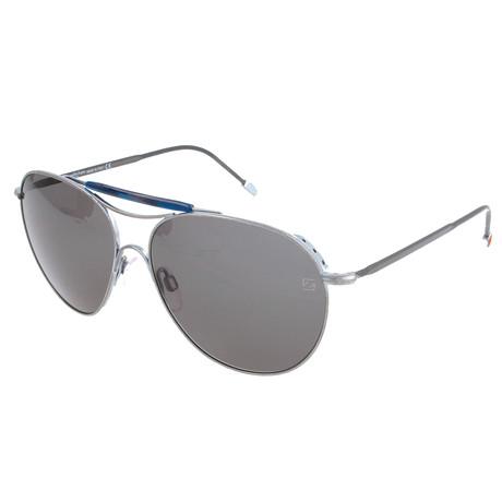 Men's ZC0021 Sunglasses // Matte Palladium + Smoke