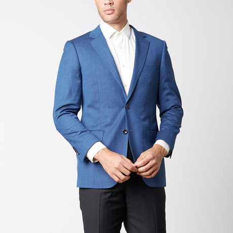 Paolo Lercara // Modern Fit Sport Jacket // Blue Textures (US: 38R)