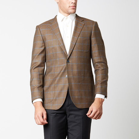 Paolo Lercara // Modern Fit Sport Jacket // Brown Window (US: 38R)