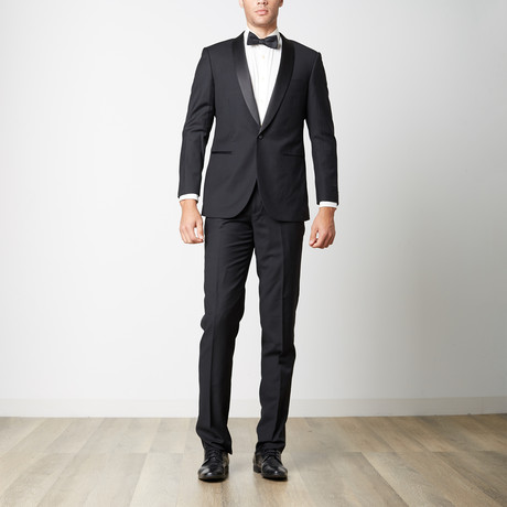 Paolo Lercara // Modern Fit Shawl Lapel Tuxedo // Black (US: 36S)