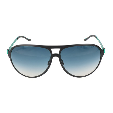 Men's Domini Sunglasses // Black + Green