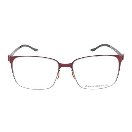 Men's M6037 Frames // Dark Red