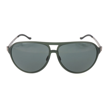 Men's Domini Sunglasses // Dark Green + Gunmetal