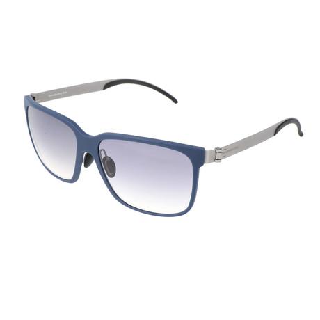Men's M7004 Sunglasses // Blue + Silver