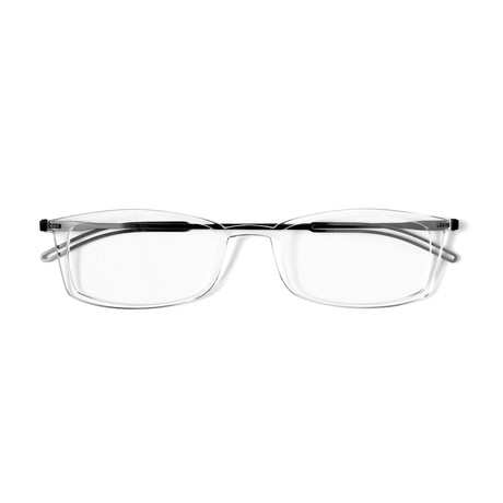 FrontPage // Brooklyn Clear Glasses + Milano Black Case (1.5 D)