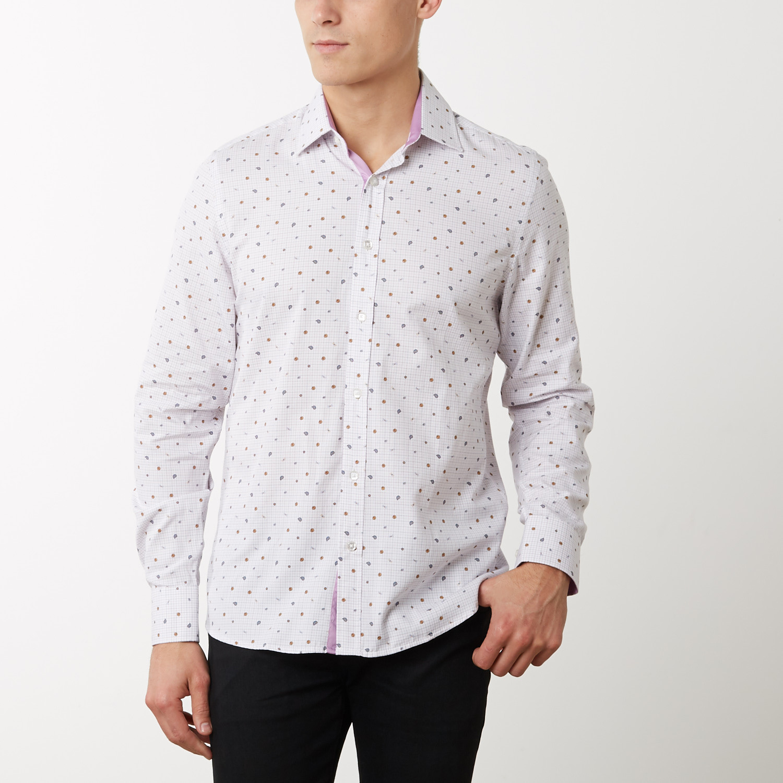 Clark Slim Fit Dress Shirt White S Tr Premium Touch Of Modern