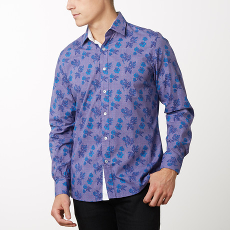 Adam Slim-Fit Dress Shirt // Multi (S)
