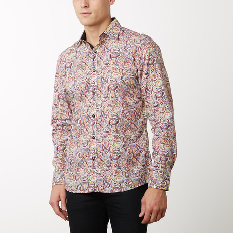 Cory Slim-Fit Dress Shirt // Multi (S)