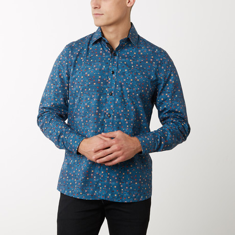 Mose Slim-Fit Dress Shirt // Teal (S)