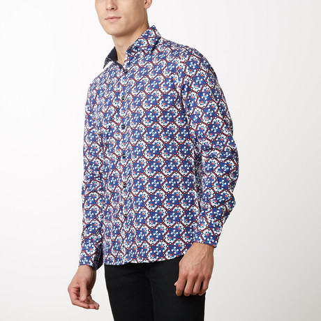 Seth Slim-Fit Dress Shirt // Navy (S)