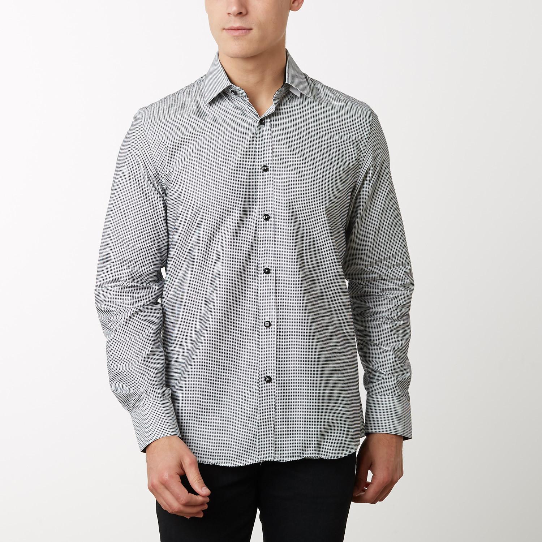 Jermaine Slim Fit Dress Shirt Black S Tr Premium Touch Of