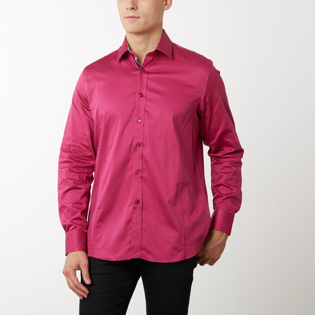 Zach Slim-Fit Dress Shirt // Plum (S)
