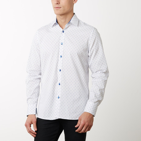Drew Slim-Fit Dress Shirt // White (S)