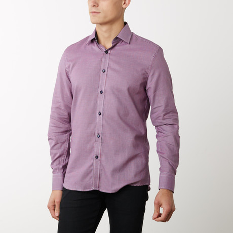 Damion Slim-Fit Dress Shirt // Plum (S)