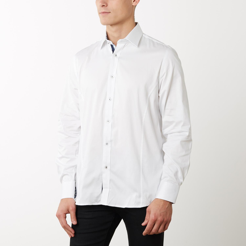 Frank Slim Fit Dress Shirt White S Tr Premium Touch Of Modern