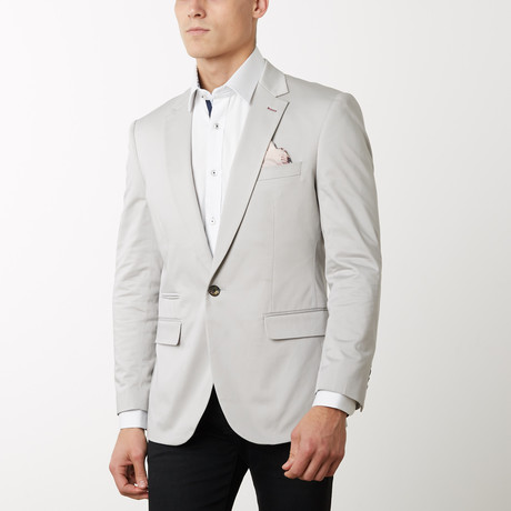 Slim-Fit Solid Blazers // Grey (S)