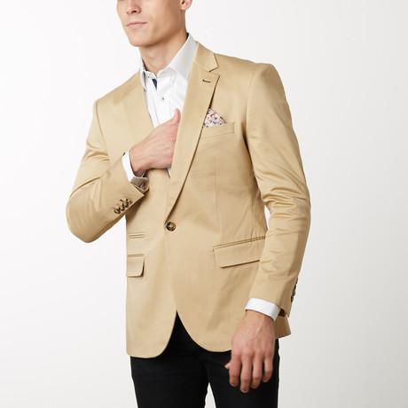 Slim-Fit Solid Blazers // Khaki (S)