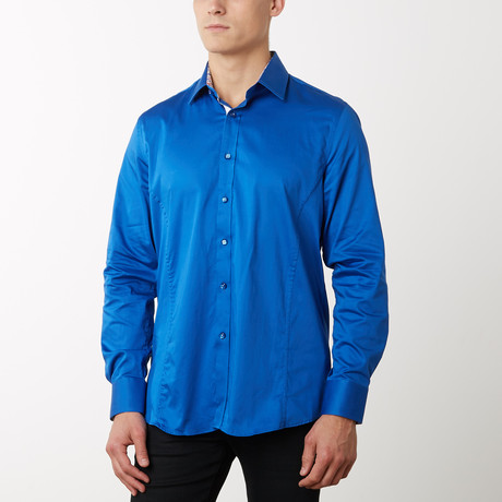 Damion Slim-Fit Dress Shirt // Royal (S)