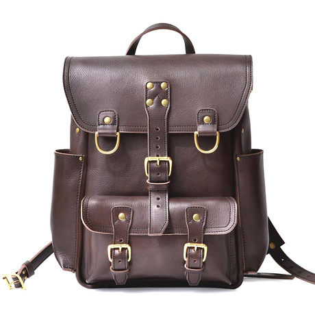 Backpack in Crazy Horse // Antique Brown