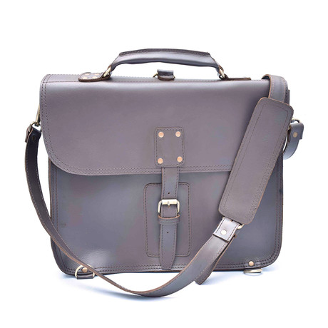 Thin Briefcase // Gray Brown