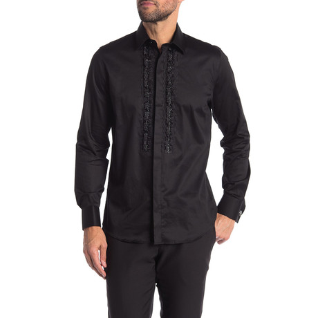 Sonny Slim-Fit Dress Shirt // Black (S)