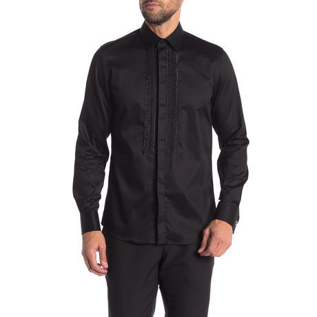 Bill Slim-Fit Dress Shirt // Black (S)